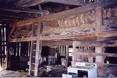 Hay Loft showing large structural timbers
