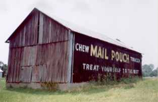 Wonderful example of a mail pouch sign.