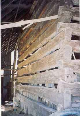 McCormick Barn interior frame picture.