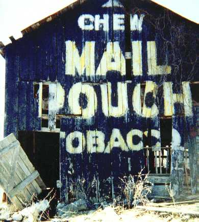 Painted Mail Pouch sign.