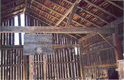 Stoller Barn interior frame picture.